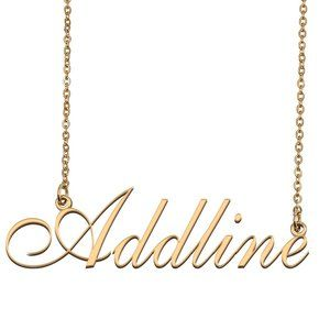 Custom Personalized Addline Name Necklace